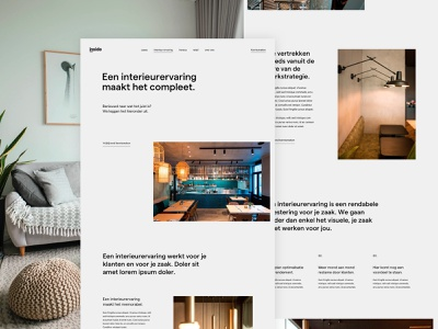 inside experience page agency studio interior minimal service services page landing design ux ui