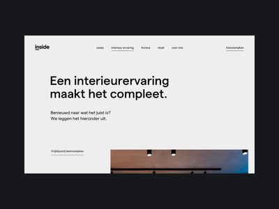 inside inner page scroll scroll principle animation interaction landing page inner studio agency interior design ux ui