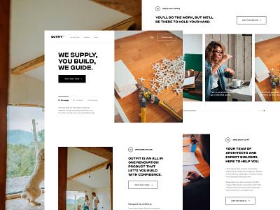 Homepage renovation service architect diy kitchen renovation construction minimalist web page landing homepage design ux ui
