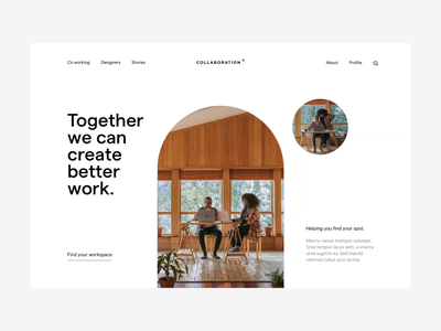 Co working loading animation interaction load page landing collaboration collab studio agency workspace working co design ux ui