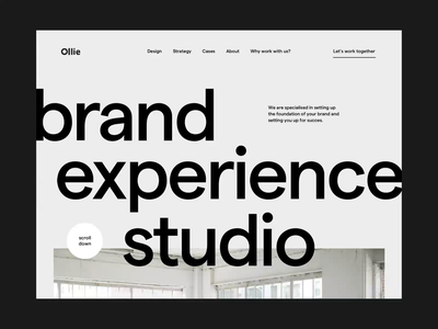 creative studio pageload interaction onboarding loading pageload creative studio agency landing page home web animation interaction design ux ui
