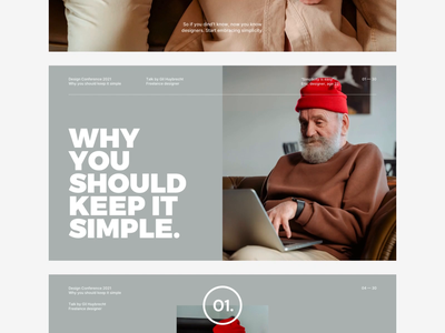 Pitch Template typography simplicity deck talk conference pitch keynote presentation template design ux ui