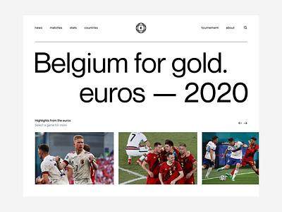 Belgium euros 2020 belgium soccer euros web interaction motion ux ui