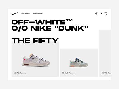 "Off-white ""DUNK"" loading idea. product webshop ecommerce shoe sneaker progress pre loading interaction animation design ux ui"