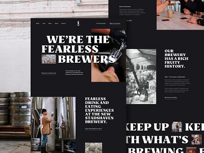Stadshaven brewery homepage type web landing homepage bar beer brewery design ux ui
