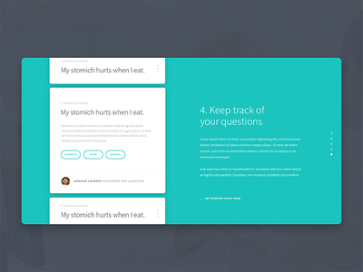 Keep Track Of Your Questions visual questions medical webdesign web ui