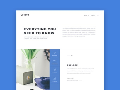 About page about page design website creative agency webdesign ui