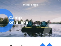 Camp on a lake