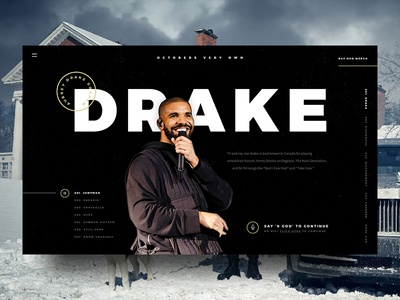 Octobers Very Own micro interaction player music navigation drake design experience landingpage ux webdesign