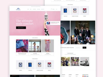 Webshop sales product home landing ecommercen webshop pink shorts boxer