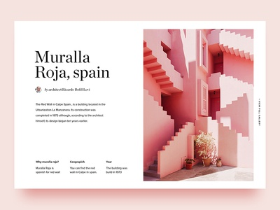 Muralla Roja serif pastel architecture spain animation ui