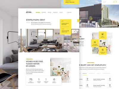 Projectdetail place facts stats real estate yellow ux ui