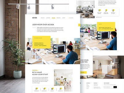 About Page process team about place facts stats real estate yellow ux ui