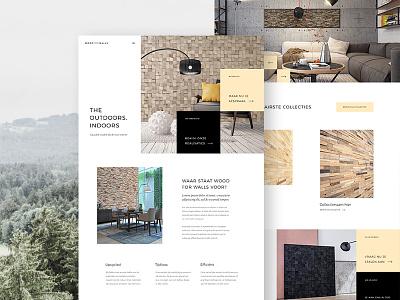 Woodforwalls - Home furniture wood interior homepage design ux ui