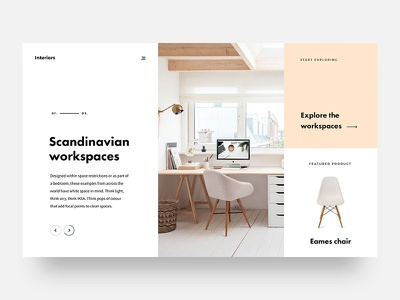 Scandinavian Workspaces workspace desk scandinavian minimal webdesign design ux ui