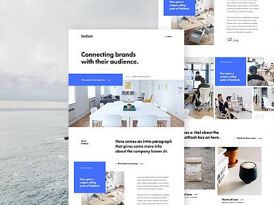 Dotdash Home blue studio agency landing page home design ux ui
