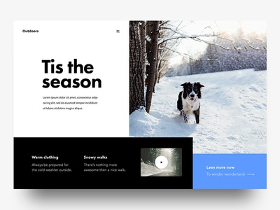 Tis The Season video dog christmas jolly webdesign ux ui