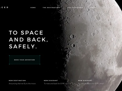 SPACED Pageload bg video moon space travel spacedchallenge spaced animation pageload ux ui