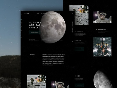 Spaced Homepage sci fi dark moon travel space spaced spacedchallenge homepage design ux ui