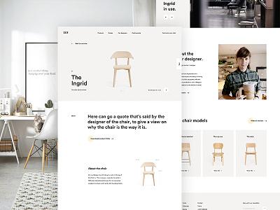 Chair Full Page chair scandinavian furniture page detail landing web design ui