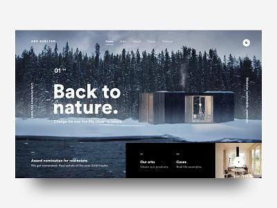 Modular Living woods nature outdoors cabin modular design ux ui