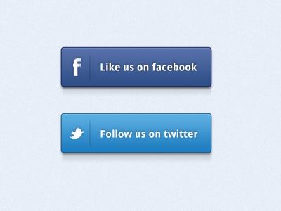 Social Buttons Freebie facebook twitter social buttons freebie free psd ui design