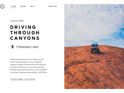 Article preview minimal news articles magazine editorial design ux ui