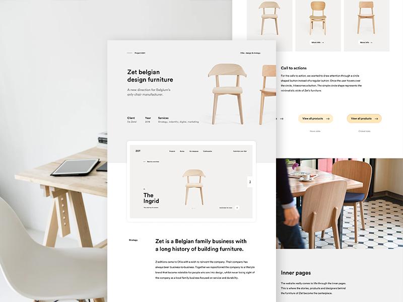 Zet Case Study study case furniture ux design ui