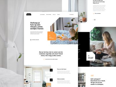 Habitat Homepage start up buy house real estate page home landing design ux ui