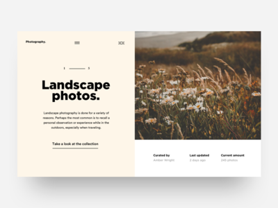 Photography Mini Site