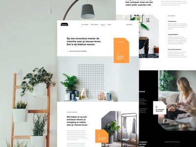 Habitat About Page landing page housing interior real estate design ux ui