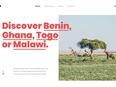 Interaction Idea responsible honest travel africa call to action hover design ux ui