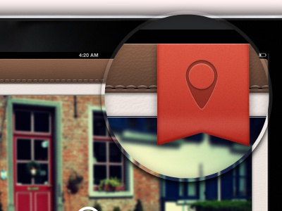 Red Label & Stiches label red ui ipad location