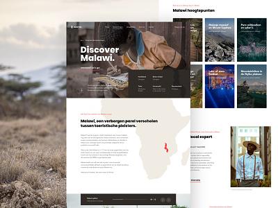 Destination Full Page responsible honest travel africa page landing design ux ui