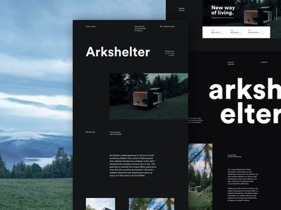 Arkshelter Case Study nature house living modular cabin arkshelter design ux ui