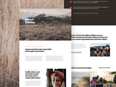 Bantoe About africa travel responsible mission about design ux ui