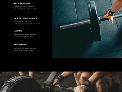Lean Homepage trainer personal training sport page home landing design ux ui