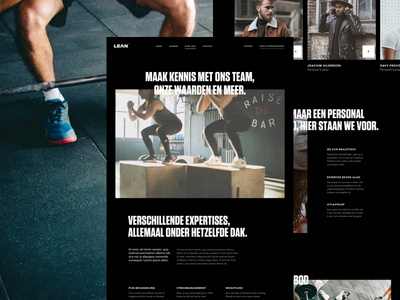 Lean About Us personal trainer sport page about design ux ui