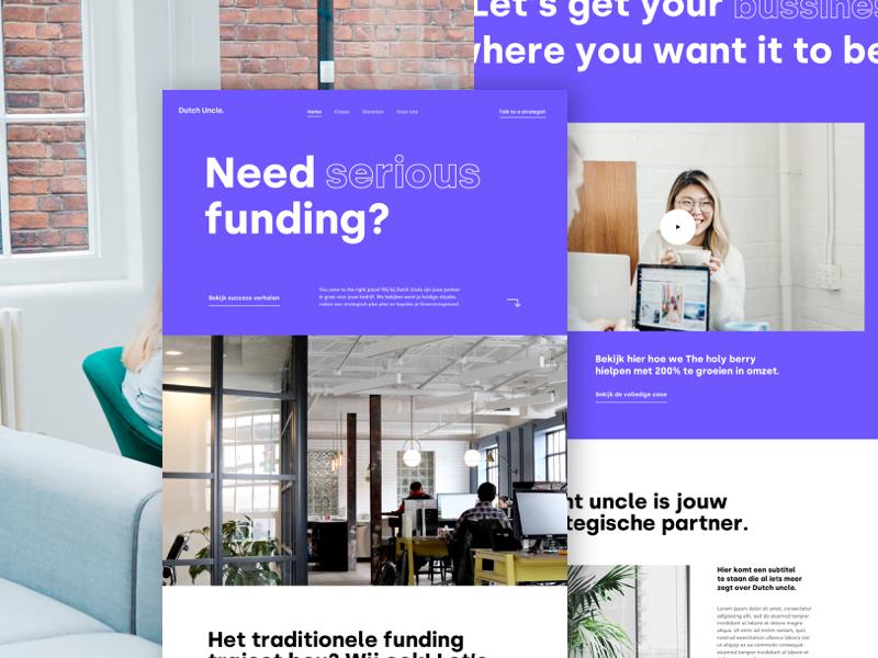 Homepage funding legal finance webdesign design ux ui
