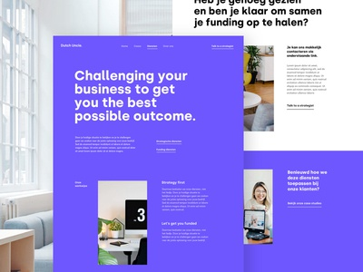 The Harbour Services typography page landing services financial funding design ux ui