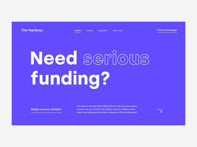 Page transition - The Harbour harbour sailor transition page animation interaction financial funding design ux ui