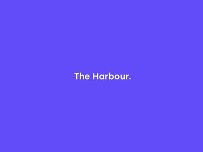 The harbour identity animated identity photography design logo branding