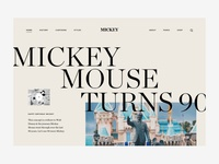 Happy birthday Mickey walt disney mickeymouse serif typography editorial ux design ui