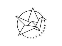 Paper Crane Tattoo Studio Alt Logo