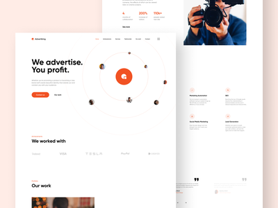 Marketing Company Website Concept modern project minimal ux ui design concept design concept art concept company marketing website design webdesign web design website web