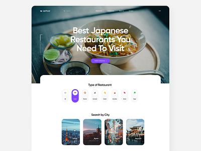 Japanese Cuisine Guide Website web designer webdesign japanese web deisgn web app website web ui japan japanese food web design web concept design flat project app design ux app ui minimal design
