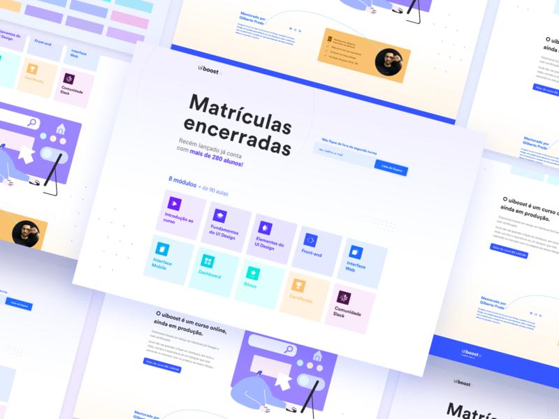 uiBoost - Landing Page pastel colors ui uidesign landingpage interface ui design uiboost