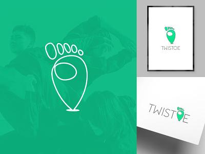 Twistoe   Brand Identity flat icon startup creative clean modern minimal logo design brand identity graphic design vector logo design branding
