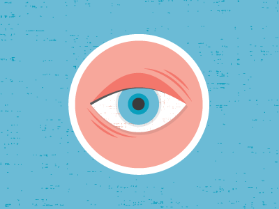 Red Eye see eye texture shapes tired wired blue
