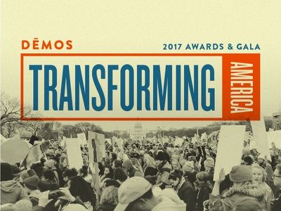 Gala Design multiply white house awards gala nonprofit reform protest overlay noise social justice